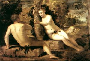 Adam and Eve - Tintoretto,1550, Gallerie dell'Accademia, Venice