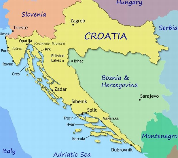 croatia map world – Croatia Tourist Map